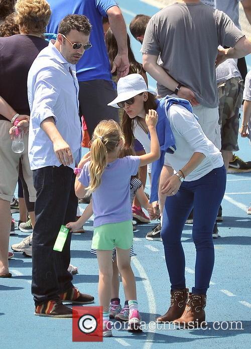 Jennifer Garner, Seraphina Affleck, Ben Affleck and Violet Affleck 7