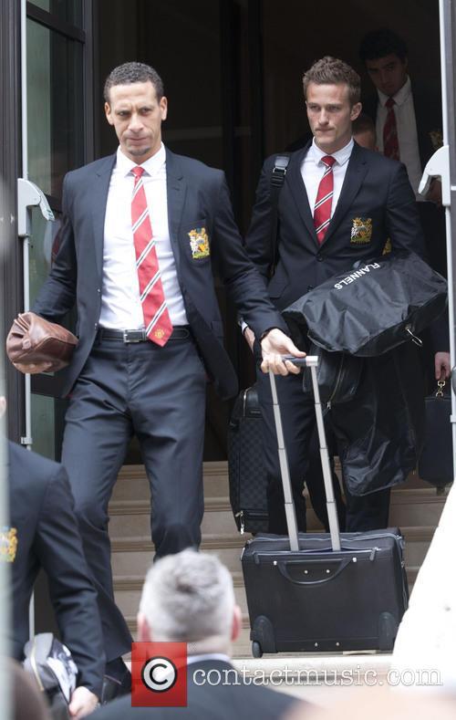 Rio Ferdinand and Anders Lindegaard 1