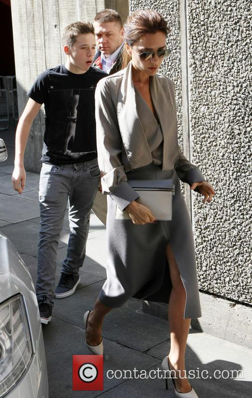 Brooklyn Beckham and Victoria Beckham 3