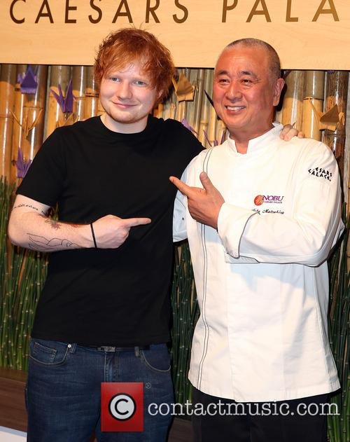 Ed Sheeran and Nobu Matsuhisa 2