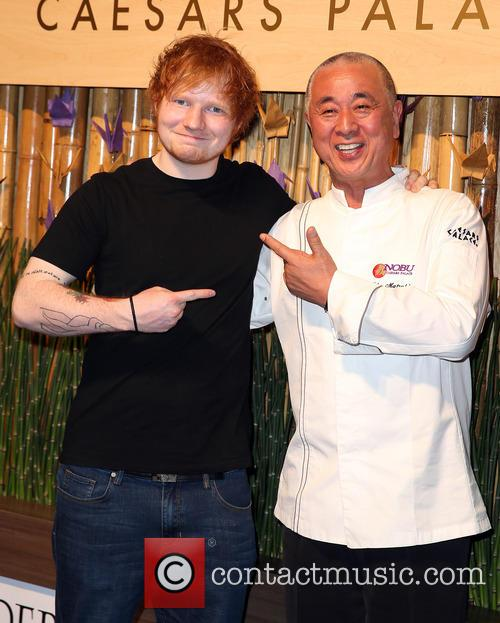 Ed Sheeran and Nobu Matsuhisa 1