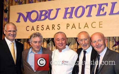 Gary Selesner, Robert Deniro, Nobu Matsuhisa, Meir Teper and Trevor Horwell 2