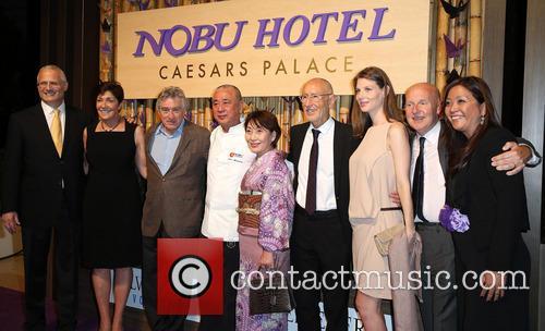 Robert DeNiro, Gary Selesner, Nobu Matsuhisa, Meir Teper, Trevor Horwell, Caesars Palace