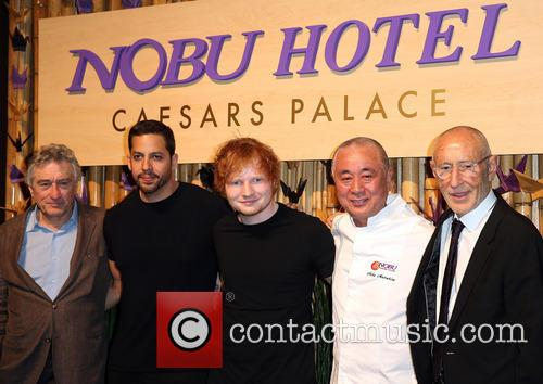 Robert Deniro, David Blaine, Ed Sheeran, Nobu Matsuhisa and Meir Teper 2