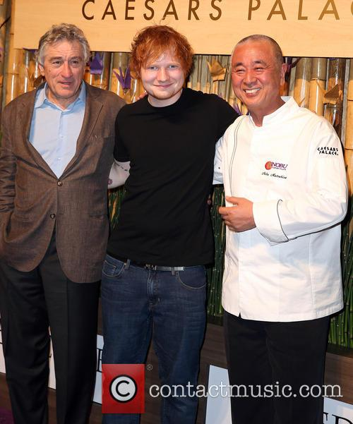 Robert Deniro, Ed Sheeran and Nobu Matsuhisa 8