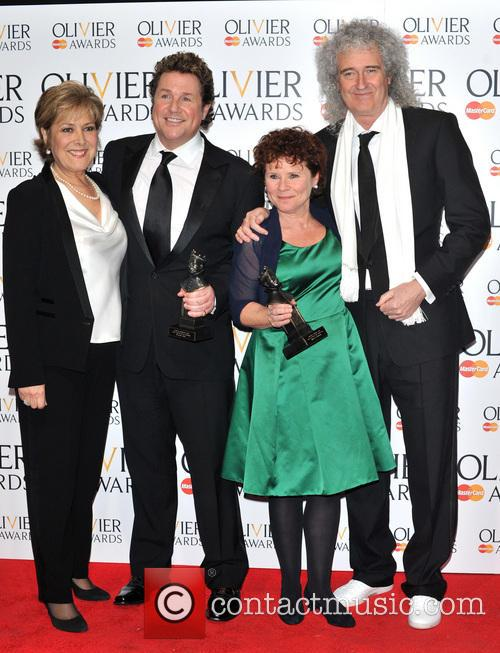 Lynda Bellingham, Michael Ball, Imelda Staunton and Brian May 2