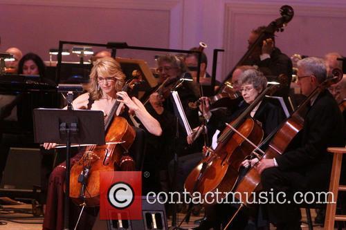 Paula Zahn Playing The Cello 2