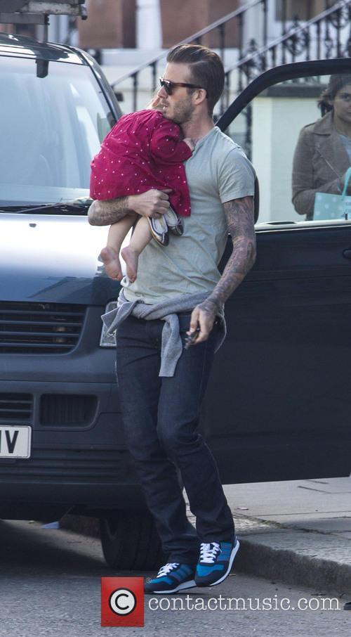 David Beckham and Harper Beckham 8