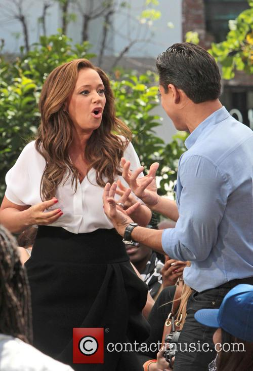 Leah Remini and Mario Lopez 12