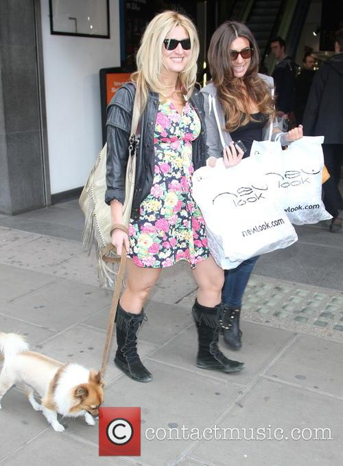 Francesca Hull and Gabriella Ellis spotted shopping