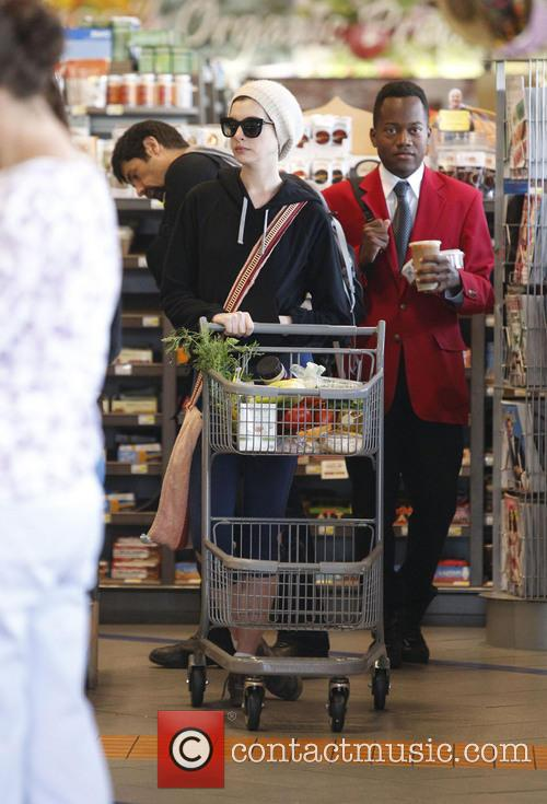 Anne Hathaway Out Shopping