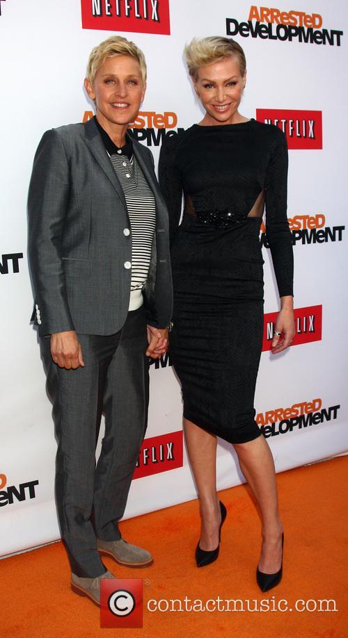 Ellen Degeneres and Portia Derossi 2