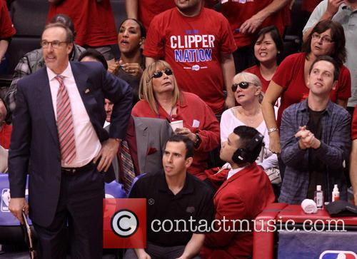 Celebrities watch the Los Angeles Clippers