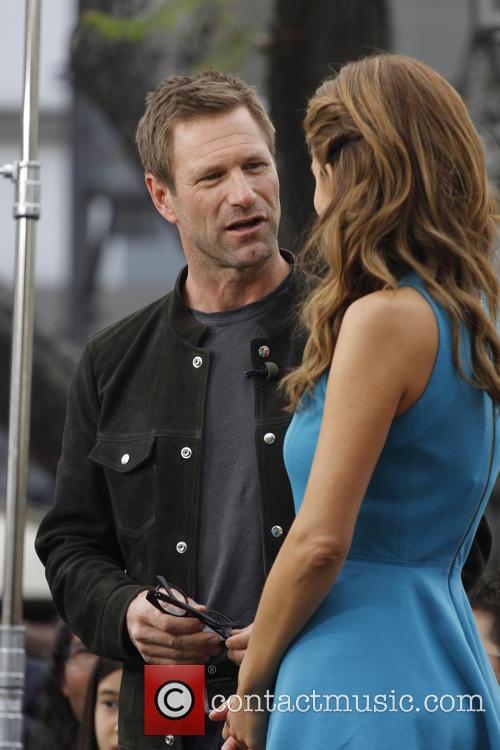 Aaron Eckhart and Maria Menounos 2