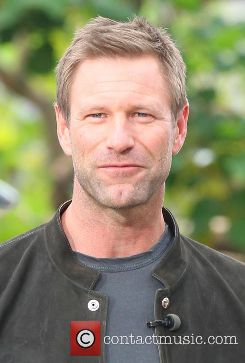 aaron eckhart celebrities at the grove to 3638159