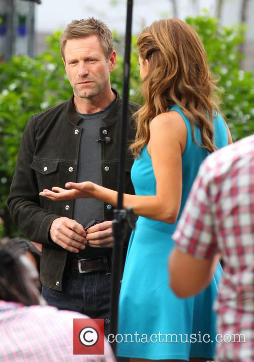 aaron eckhart celebrities at the grove to 3638167