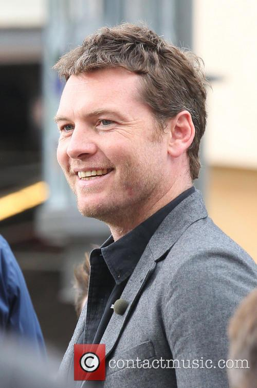 sam worthington celebrities at the grove to 3638172