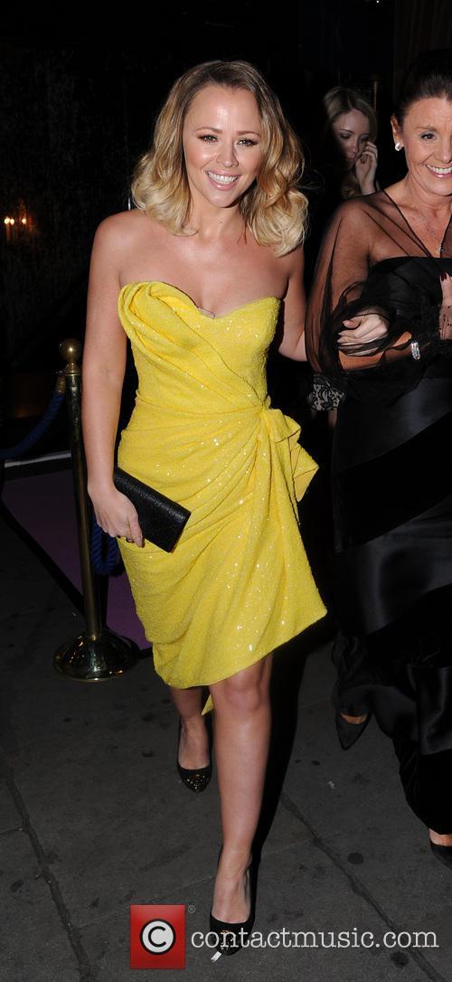 Kimberley Walsh leaving Cafe de Paris