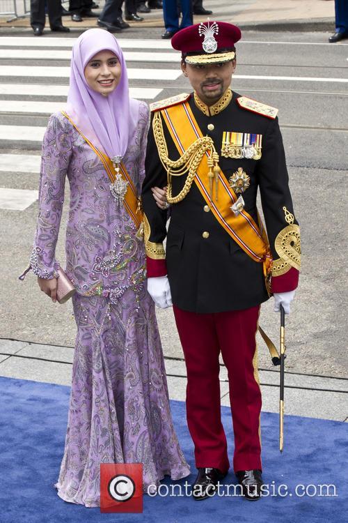 Prince Al-Muhtadee Billah of Brunei, wife Sarah, Amsterdam