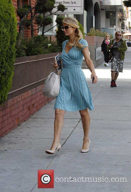 Paris Hilton arriving at a office in Beverly...