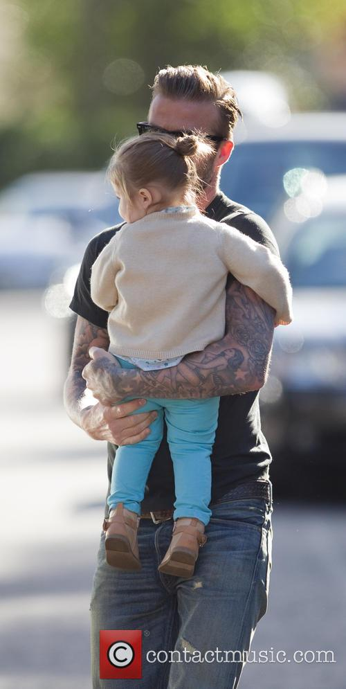 David Beckham and Harper Beckham 1