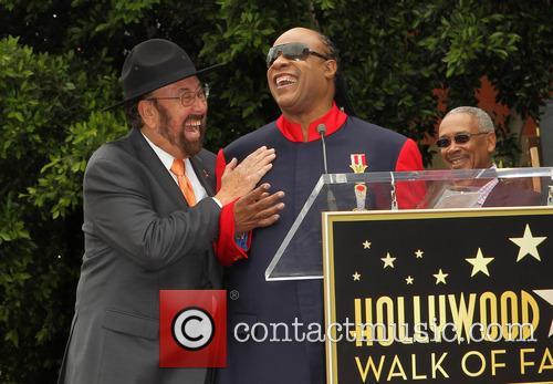 Shotgun Tom Kelly, Stevie Wonder, on the Walk of Fame