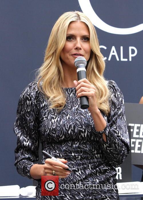 Heidi Klum promotes 'Clear' hair products at The Grove