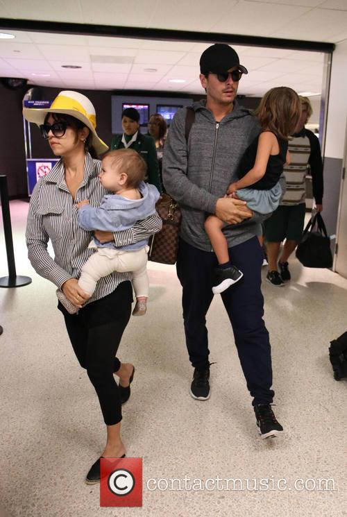 Kourtney Kardashian, Scott Disick, Penelope Scotland Disick and Mason Dash Disick 2