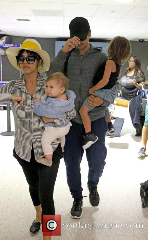 Kourtney Kardashian, Scott Disick, Penelope Scotland Disick and Mason Dash Disick 3