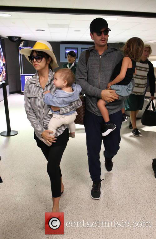 Kourtney Kardashian, Scott Disick, Penelope Scotland Disick and Mason Dash Disick 4