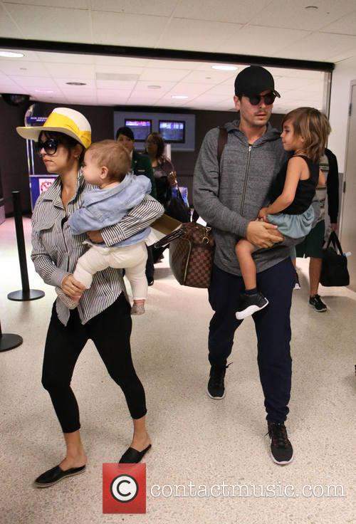 Kourtney Kardashian, Scott Disick, Penelope Scotland Disick and Mason Dash Disick 1