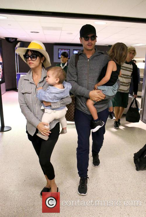 Kourtney Kardashian, Scott Disick, Penelope Scotland Disick and Mason Dash Disick 5