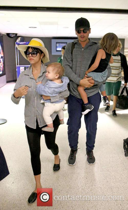 Kourtney Kardashian, Scott Disick, Penelope Scotland Disick and Mason Dash Disick 8