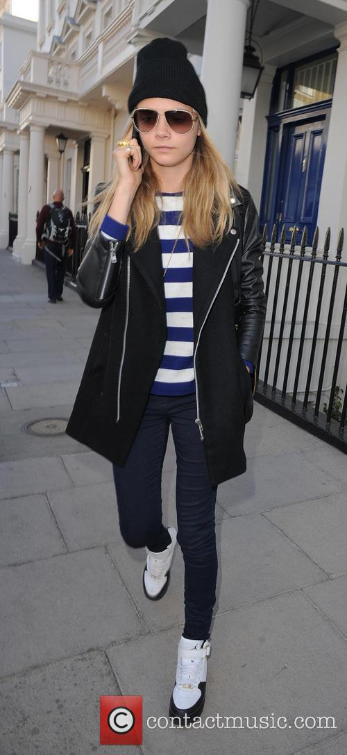 Cara Delevingne Returns Home