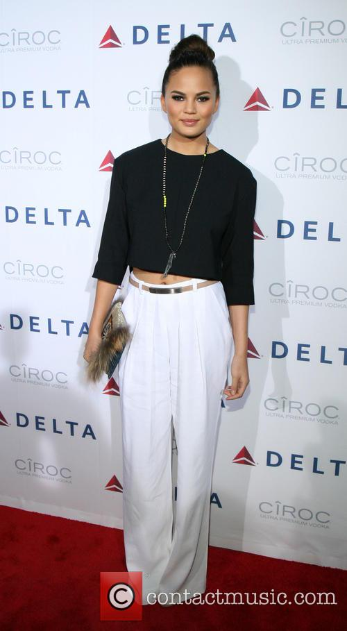 chrissy teigen delta airlines celebrates the opening 3640465