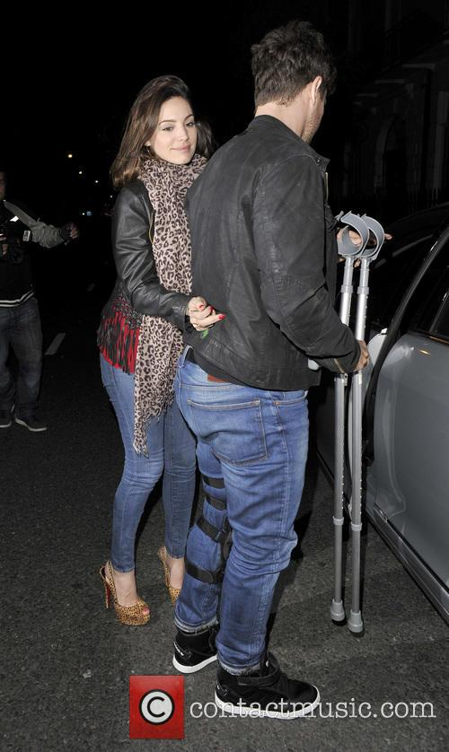 Kelly Brook and Danny Cipriani arriving home