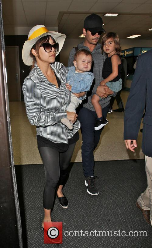 Kourtney Kardashian, Scott Disick, Mason Disick and Penelope Disick 3
