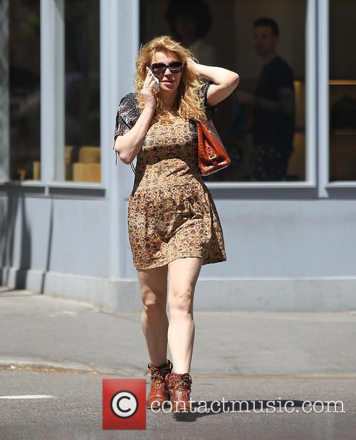 Courtney Love walking in the West Village