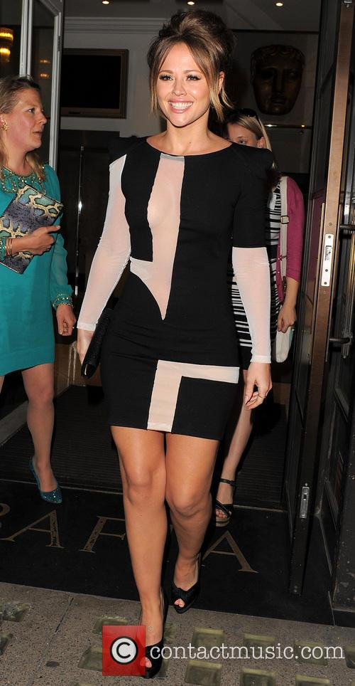Kimberley Walsh leaving the BAFTA book event