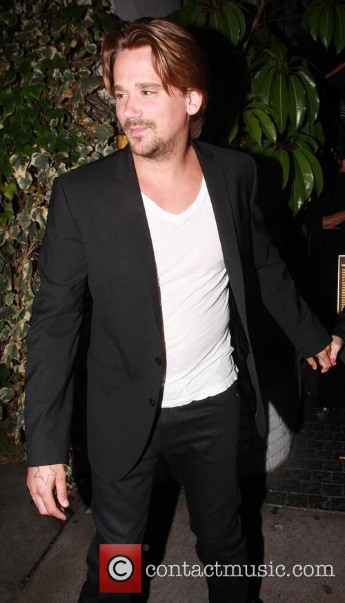 Sean Stewart leaving Chateau Marmont