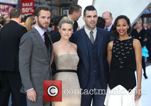 Chris Pine, Alice Eve, Zachary Quinto and Zoe Saldana 10