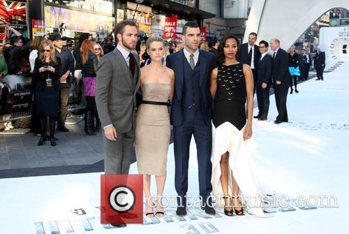 Chris Pine, Alice Eve, Zachary Quinto and Zoe Saldana 11