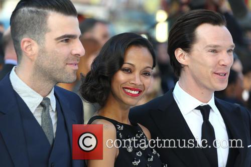 Zachary Quinto, Zoe Saldana and Benedict Cumberbatch 10
