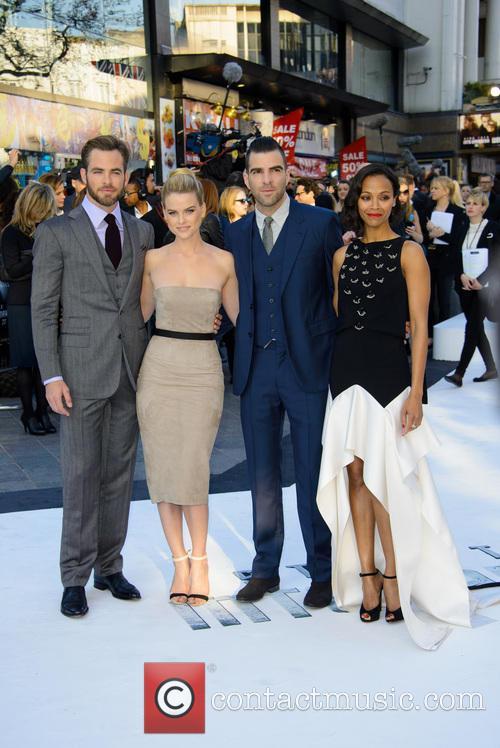 Chris Pine, Alice Eve, Zachary Quinto and Zoe Saldana 8