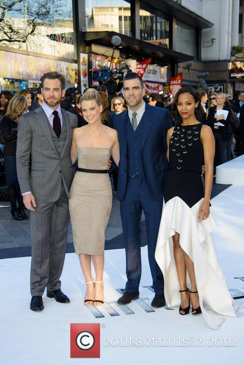 Chris Pine, Alice Eve, Zachary Quinto and Zoe Saldana 9