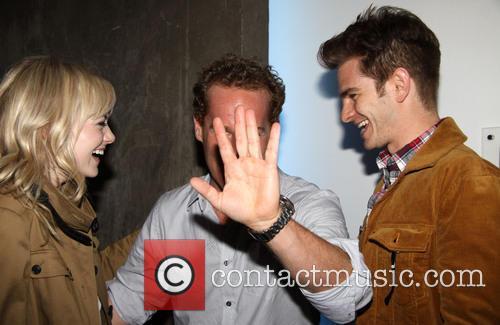 Emma Stone, Adam James and Andrew Garfield 4