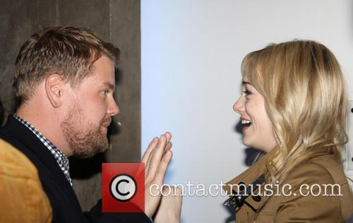 James Corden and Emma Stone 4