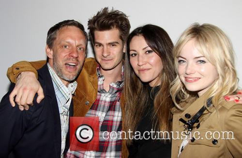 Sam Troughton, Andrew Garfield, Eleanor Matsuura and Emma Stone