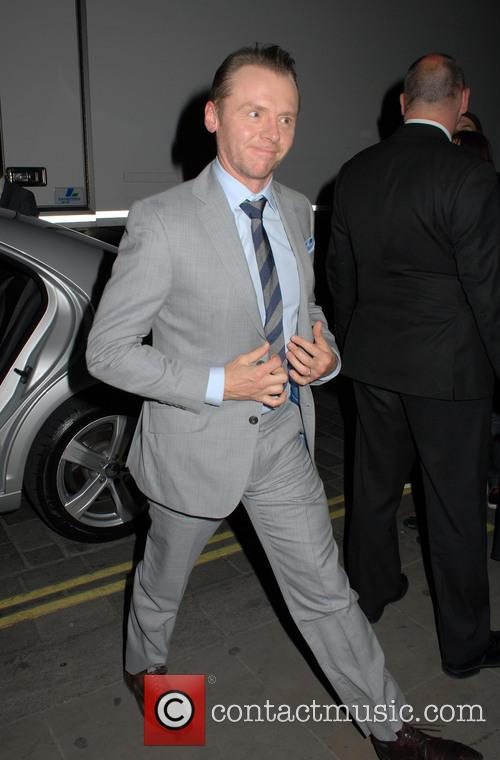 Simon Pegg, Grey, Gray and Suit 4