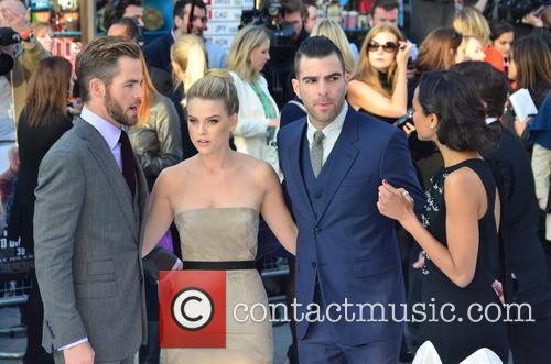 Chris Pine, Alice Eve, Zachary Quinto and Zoe Saldana 3